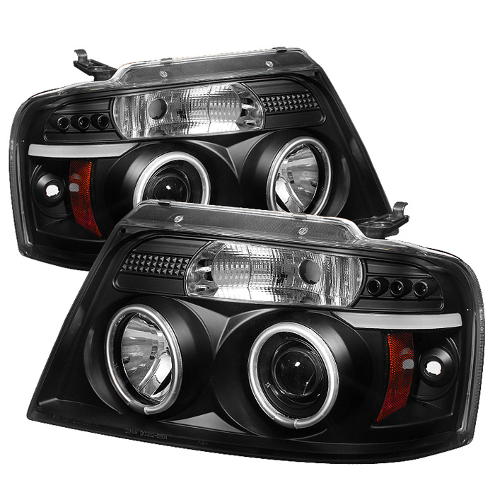 Ford F150  2004-2008 Ccfl LED Projector Headlights  - Black