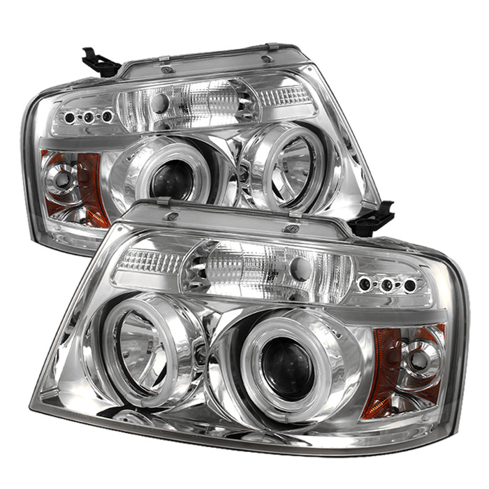 Ford F150  2004-2008 Ccfl LED Projector Headlights  - Chrome