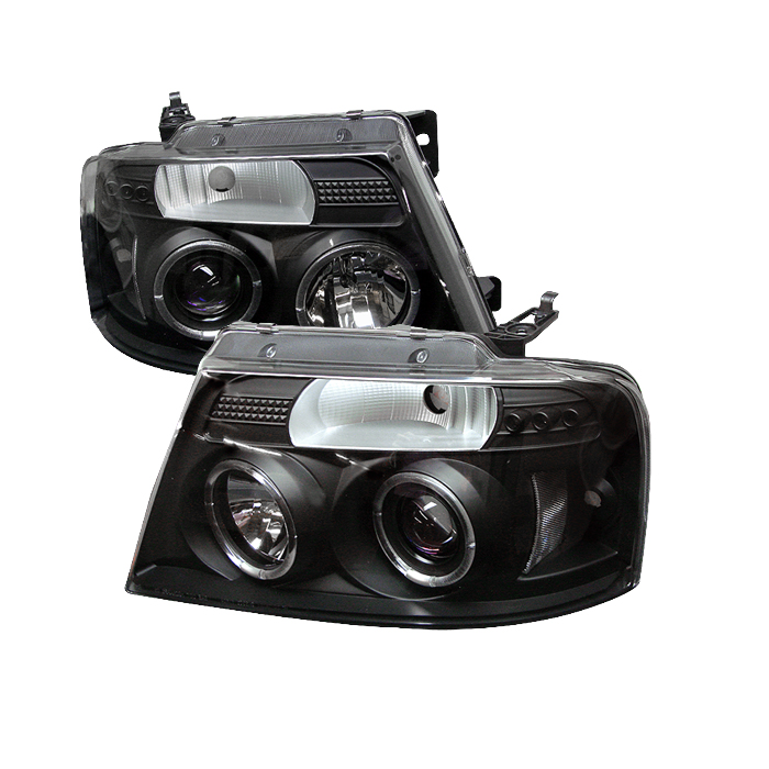 Ford F150 2004-2008  Black  Halo LED Projector Headlights