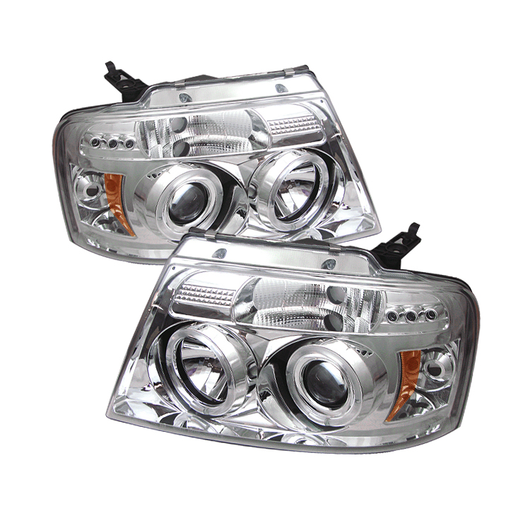 Ford F150 2004-2008  Chrome  Halo LED Projector Headlights