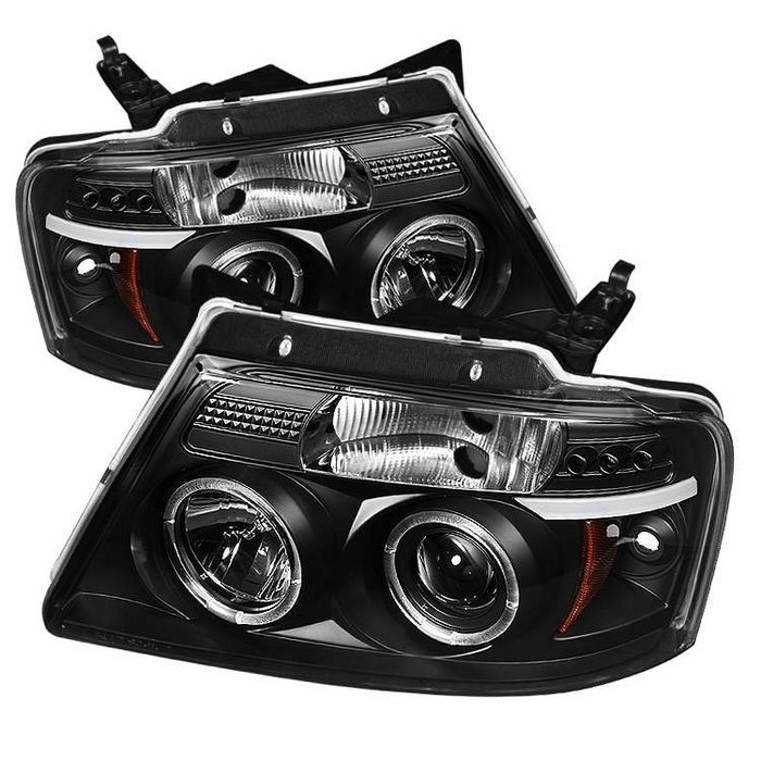 Ford F150  2004-2008 Halo LED Projector Headlights  - Black