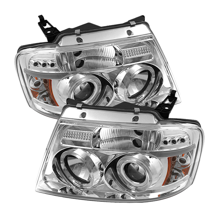 Ford F150  2004-2008 Halo LED Projector Headlights  - Chrome