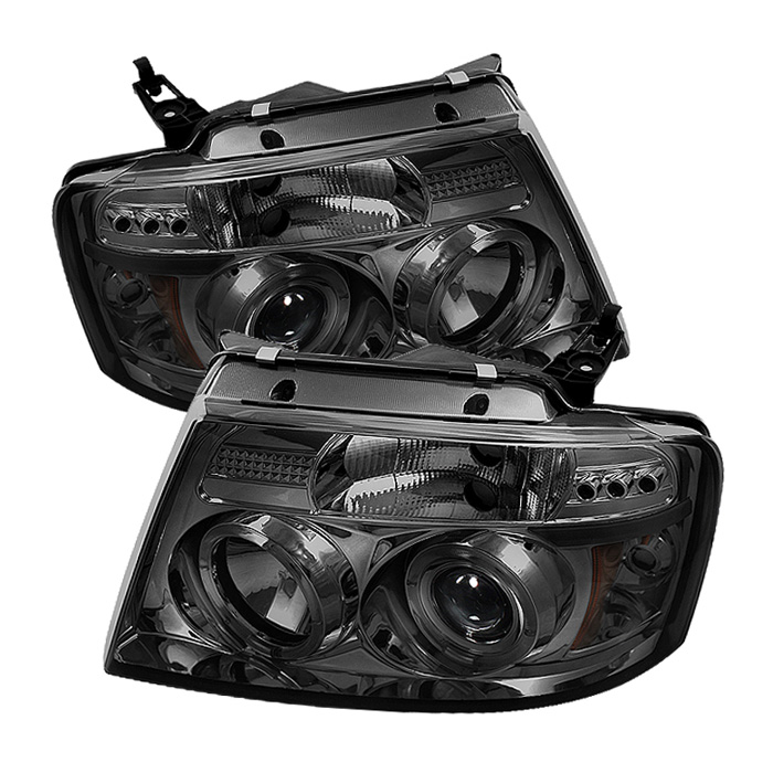 Ford F150  2004-2008 Halo LED Projector Headlights  - Smoke