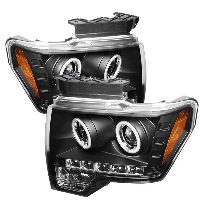 Ford F150  2009-2012 Ccfl LED Projector Headlights  - Black