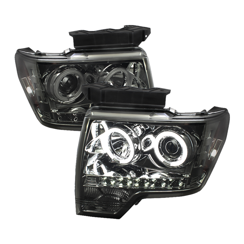 Ford F150  2009-2012 Ccfl LED Projector Headlights  - Smoke
