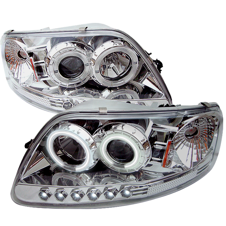 Ford F150  1997-2003 1pc Ccfl LED Projector Headlights  - Chrome