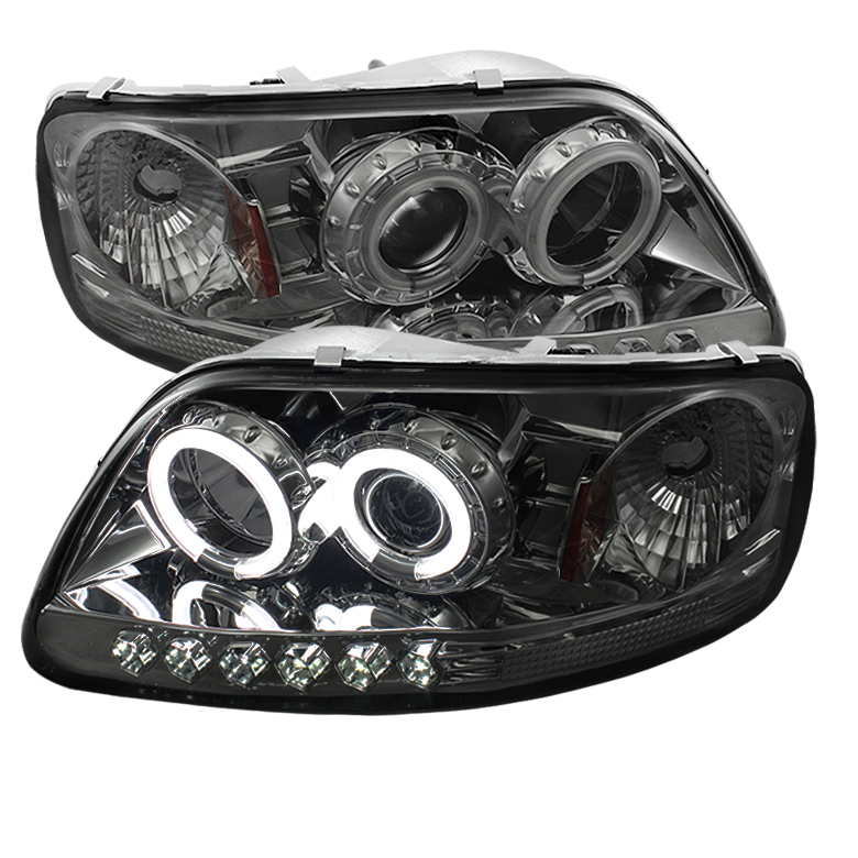 Ford Expedition  1997-2002 1pc Ccfl LED Projector Headlights  - Smoke