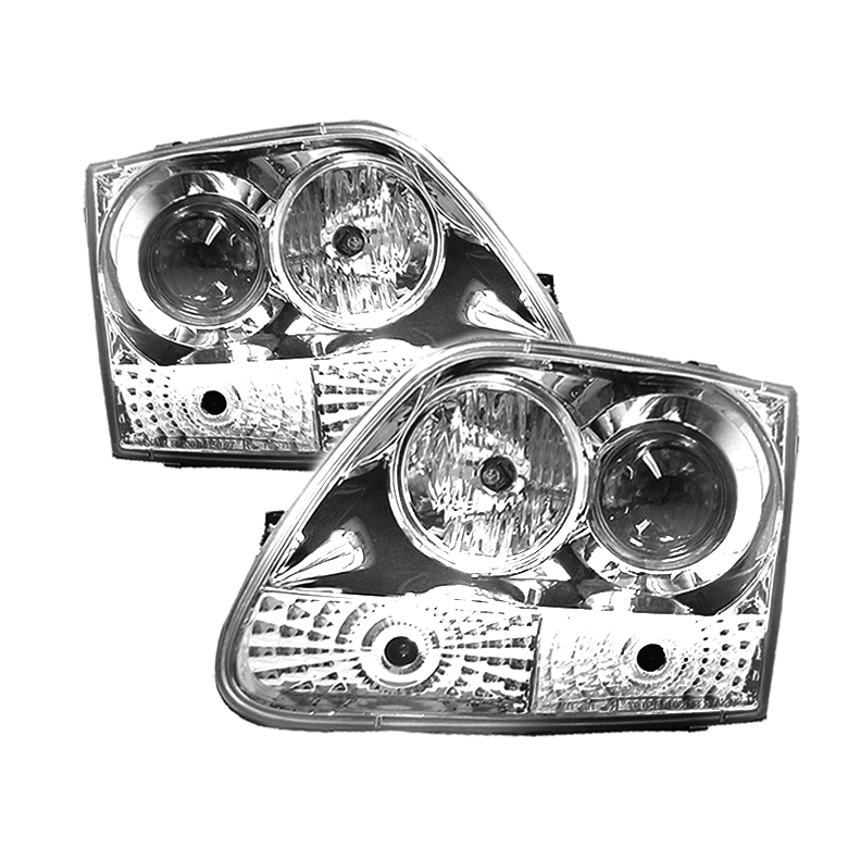 Ford F150  1997-2003 Halo Projector Headlights  - Chrome