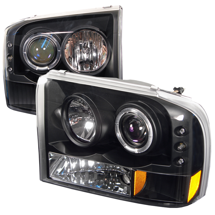 Ford F150 1999-2004  Black  Halo LED Projector Headlights