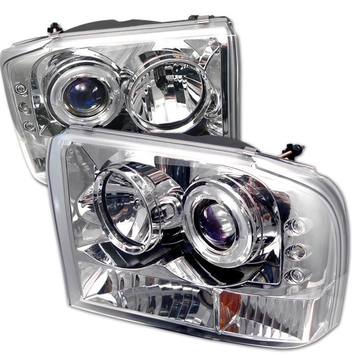 Ford F150 1999-2004  Chrome  Halo LED Projector Headlights