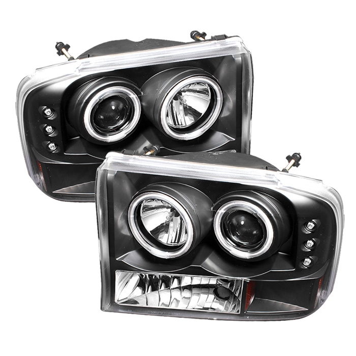 Ford Super Duty F250 1999-2004 1pc Ccfl LED Projector Headlights  - Black
