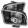 2005 Ford Mustang   Ccfl LED Projector Headlights  - Black