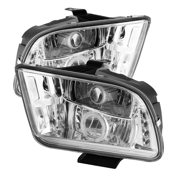 Ford Mustang  2005-2009 Ccfl LED Projector Headlights  - Chrome