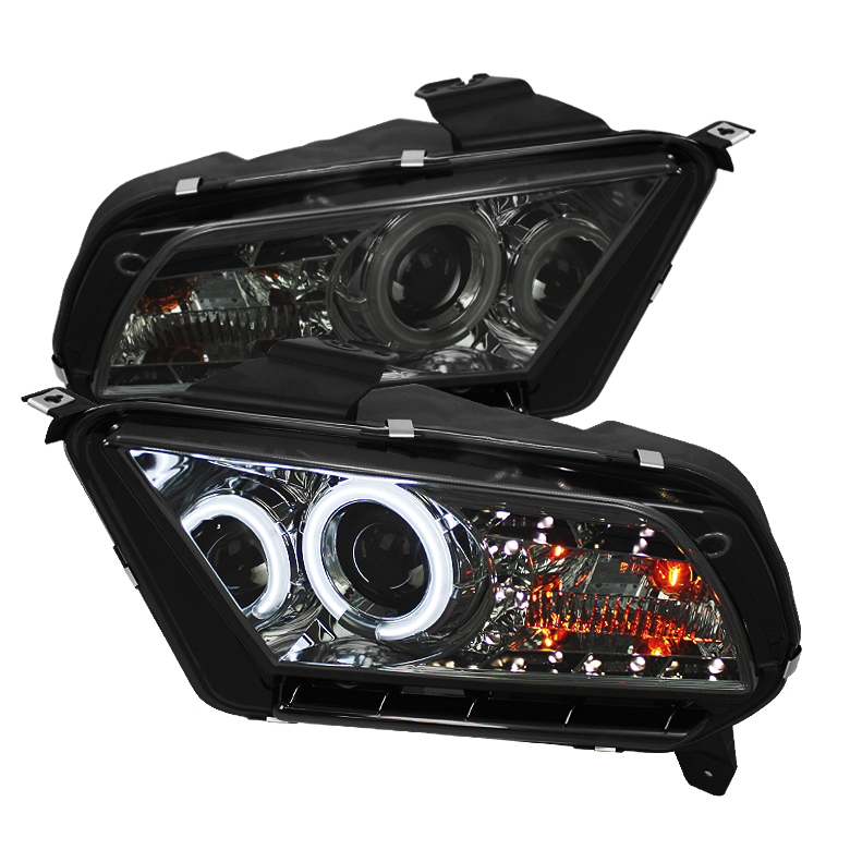 Ford Mustang ( Non Hid. Non Gt ) 2010-2011 Ccfl Drl LED Projector Headlights  - Smoke
