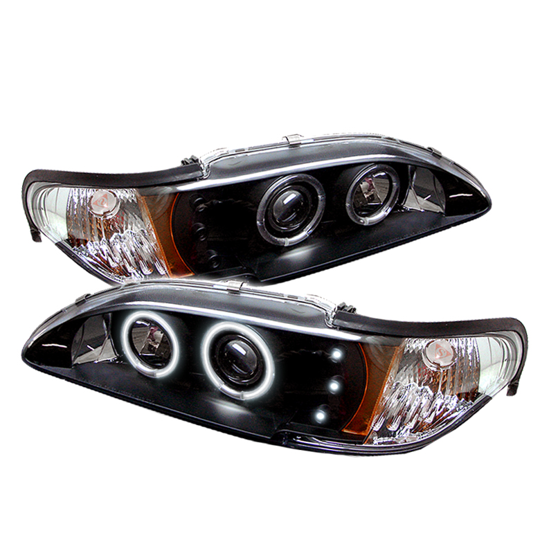 Ford Mustang  1994-1998 1pc Ccfl LED Projector Headlights  - Black