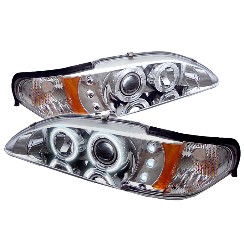 Ford Mustang  1994-1998 1pc Ccfl LED Projector Headlights  - Chrome