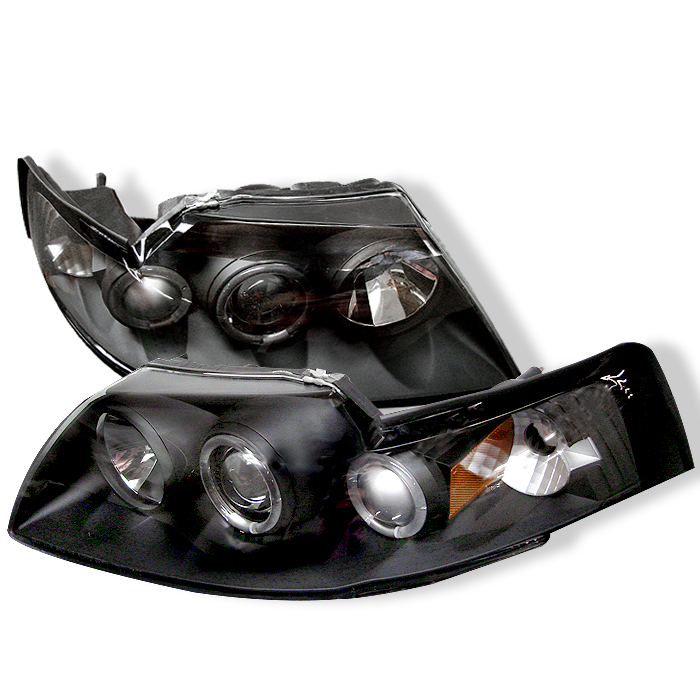 Ford Mustang  1999-2004 Halo Projector Headlights  - Black