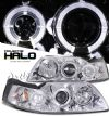 2000 Ford Mustang   Halo Projector Headlights  - Chrome