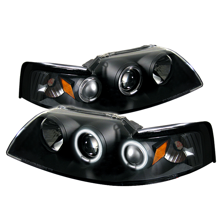 Ford Mustang  1999-2004 Ccfl Projector Headlights  - Black