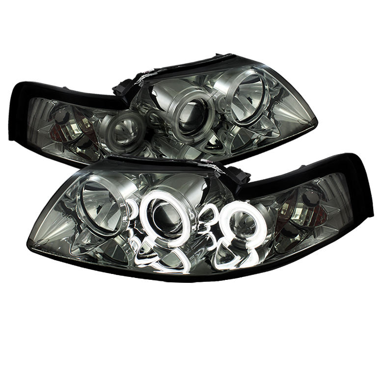 Ford Mustang  1999-2004 Ccfl Projector Headlights  - Smoke