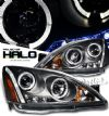 Honda Accord 2003-2006  Black W/ Halo Projector Headlights