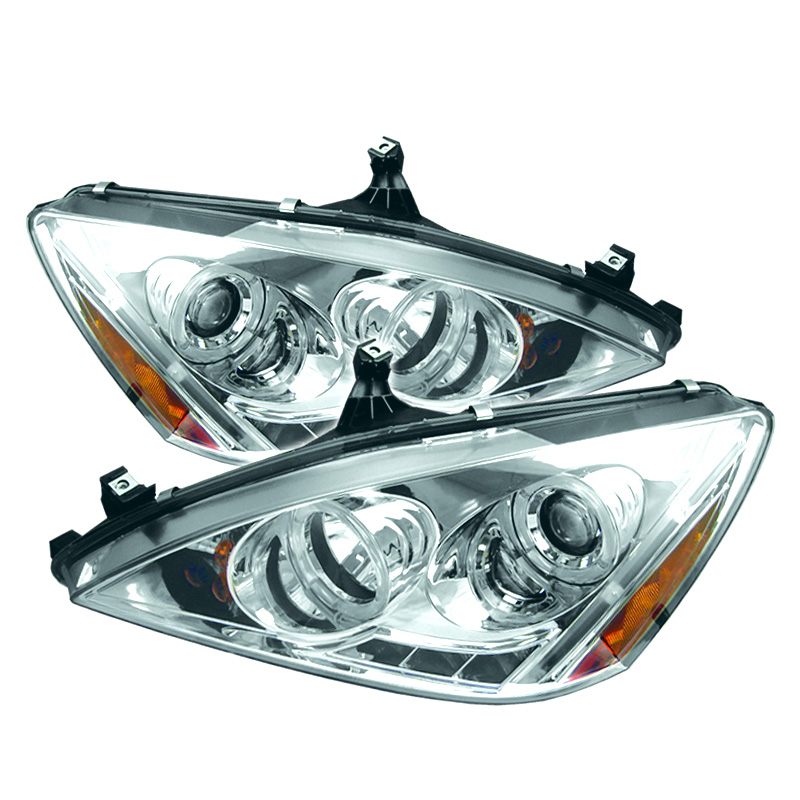 Honda Accord 2003-2007  Chrome Halo LED Projector Headlights