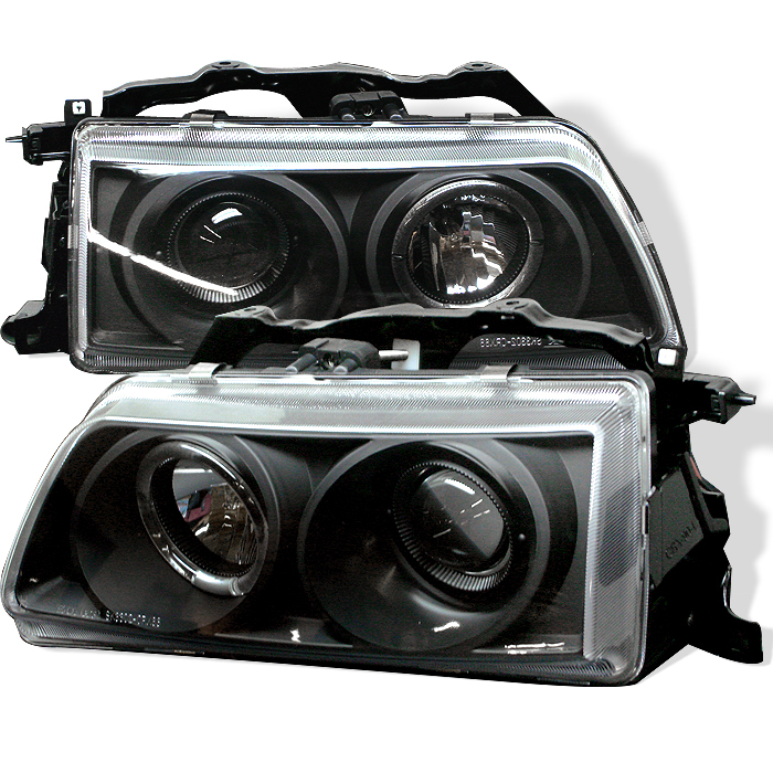 Honda Crx 1988-1989  Black Halo Projector Headlights