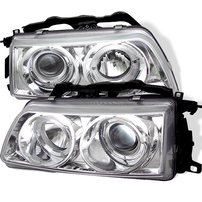 Honda Civic 1990-1991  Chrome Halo Projector Headlights
