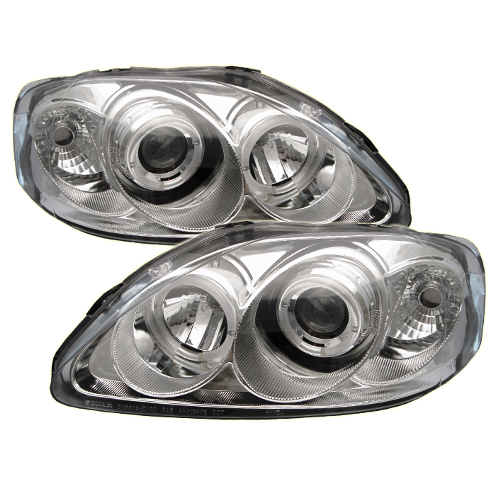 Honda Civic 1999-2000  Chrome  Halo Projector Headlights