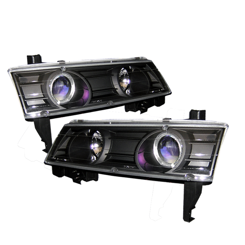 Honda Prelude 1992-1996  Black  Halo Projector Headlights