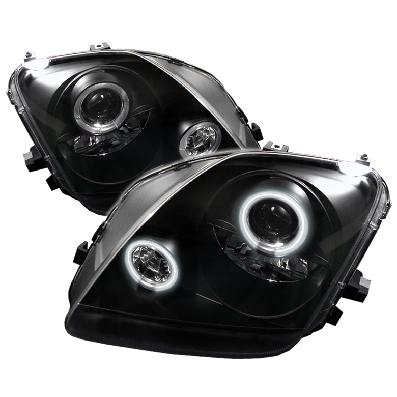 Honda Prelude 1997-2001  Black CCFL Projector Headlights
