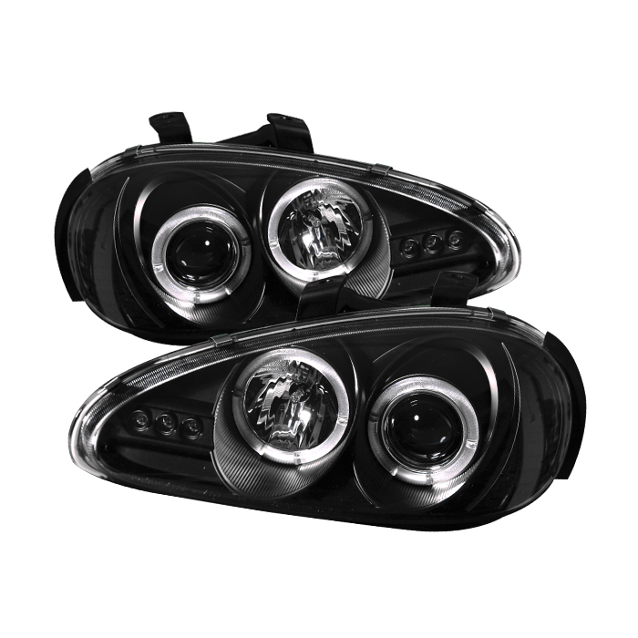 Mazda Mx3 1992-1996  Black Halo LED Projector Headlights