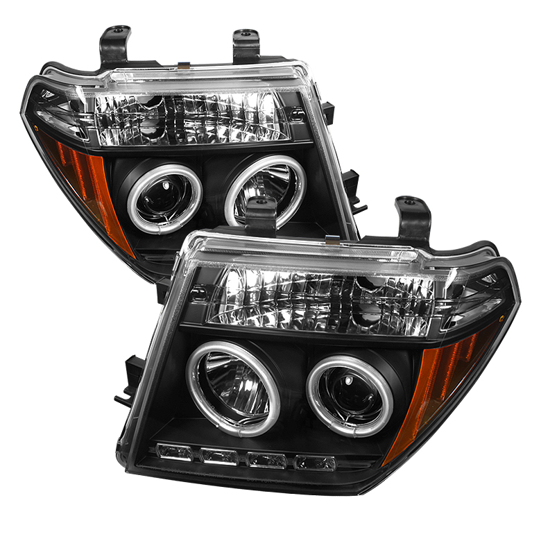 Nissan Frontier  2005-2008 Ccfl LED Projector Headlights  - Black