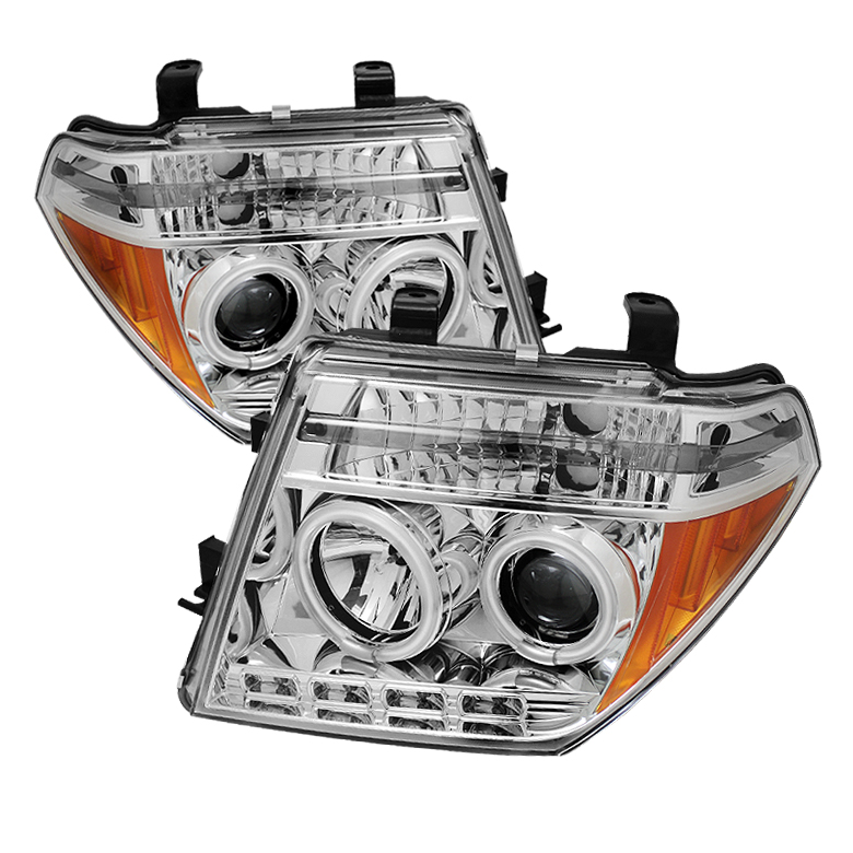 Nissan Frontier  2005-2008 Ccfl LED Projector Headlights  - Chrome