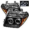 2008 Nissan Frontier   Halo LED Projector Headlights  - Black