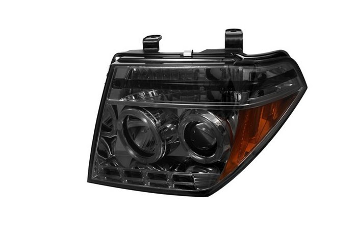 Nissan Pathfinder  2005-2007 Halo LED Projector Headlights  - Smoke