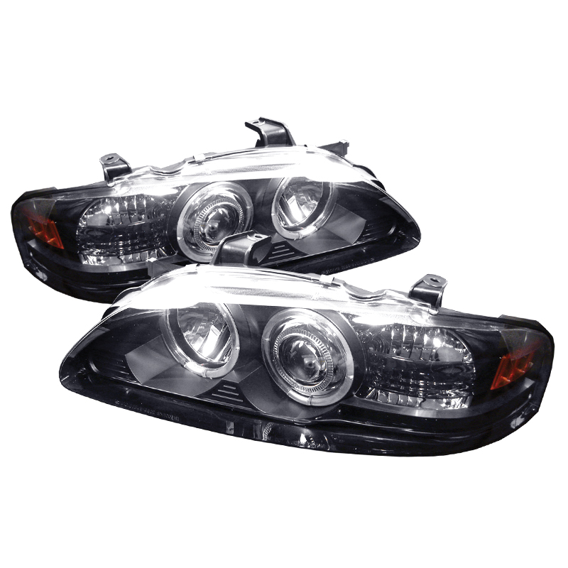 Nissan  Sentra 2000-2003  Black 1pc Halo LED Projector Headlights