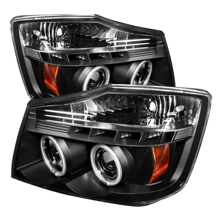 Nissan Armada  2004-2007 Ccfl LED Projector Headlights  - Black