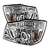 2004 Nissan Titan   Ccfl LED Projector Headlights  - Chrome