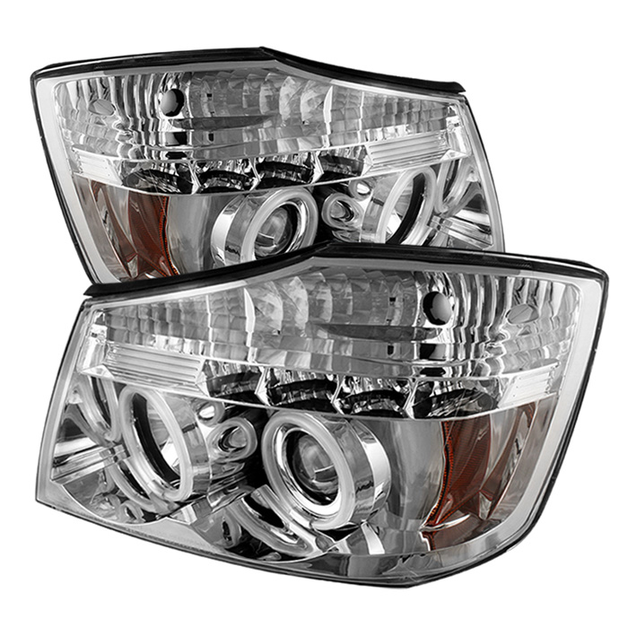 Nissan Armada  2004-2007 Ccfl LED Projector Headlights  - Chrome