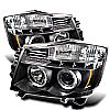2004 Nissan Armada   Halo LED Projector Headlights  - Black