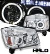 Nissan Titan  2004-2007 Halo LED Projector Headlights  - Chrome