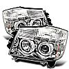 2006 Nissan Armada   Halo LED Projector Headlights  - Chrome