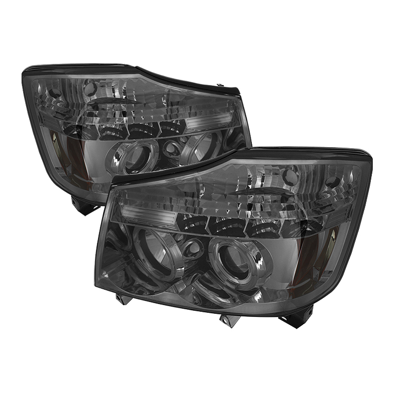 Nissan Armada  2004-2007 Halo LED Projector Headlights  - Smoke