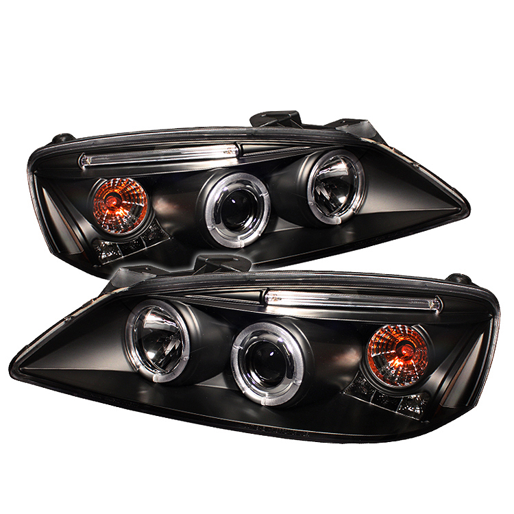 Pontiac G6 2005-2008 2DR/4DR Black Halo Projector Headlights