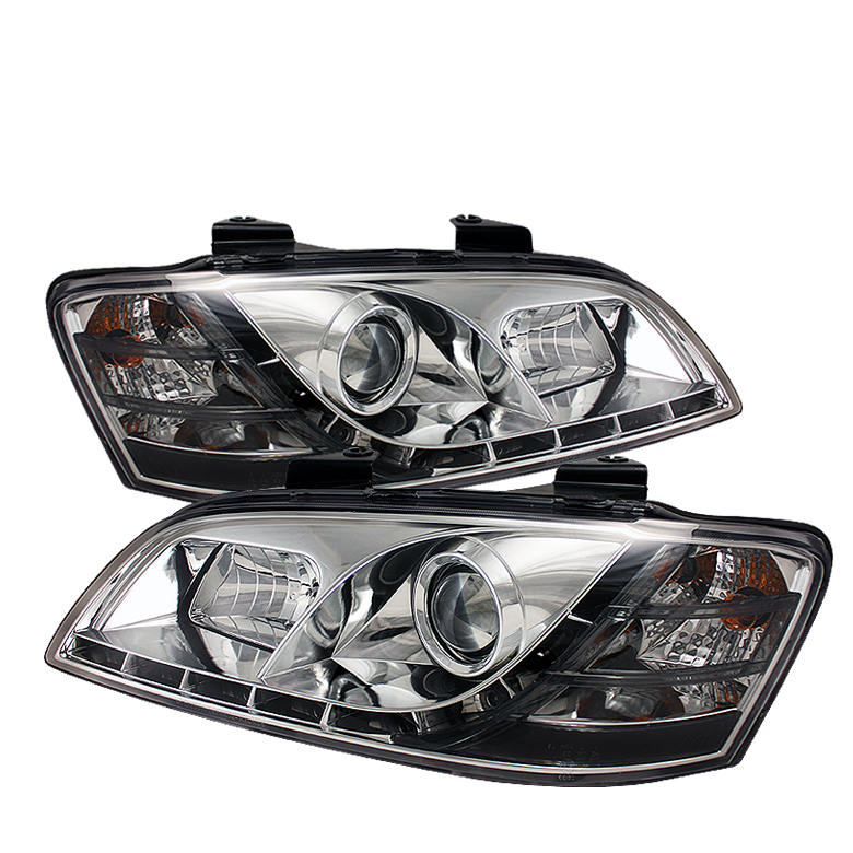 Pontiac G8 2008-2009  Chrome  DRL LED Projector Headlights