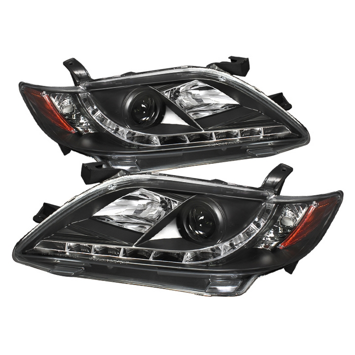 Toyota Camry 2007-2009 Black DRL LED Projector Headlights