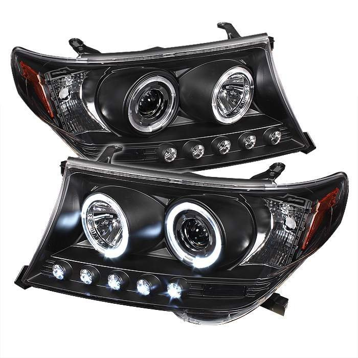 Toyota Land Cruiser  2008-2009 Halo Projector Headlights  - Black