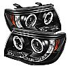 Toyota Tacoma  2005-2010 Ccfl LED Projector Headlights  - Black