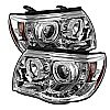 2009 Toyota Tacoma   Ccfl LED Projector Headlights  - Chrome